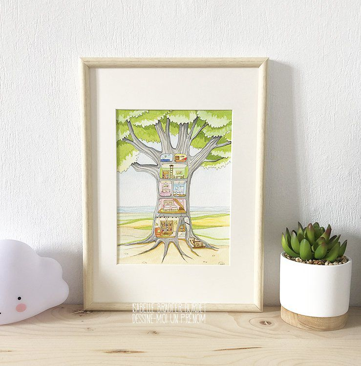 Illustration La maison arbre
